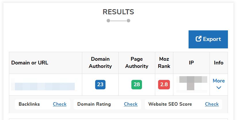 Domain Authority Checker2