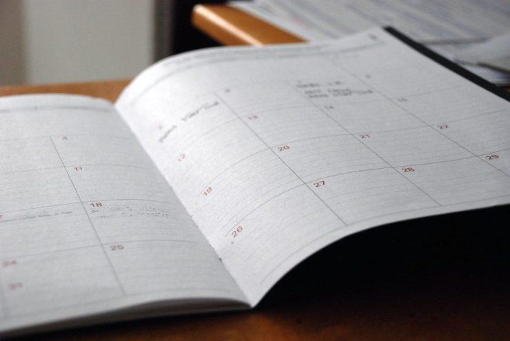 月曆記錄字數