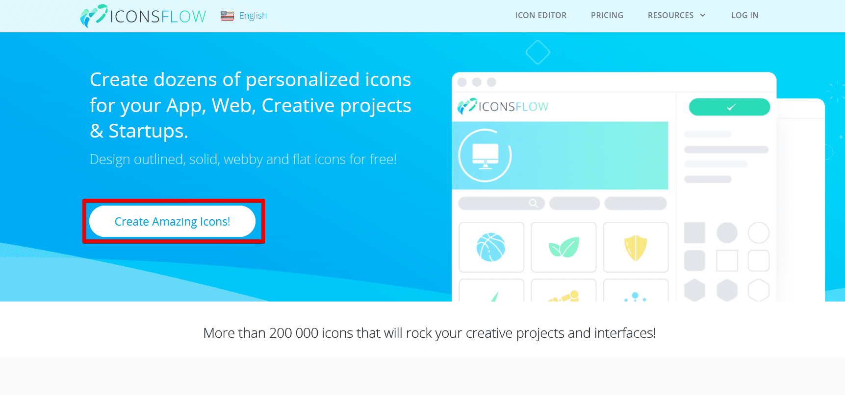 FREE Icon Maker - generate stylish flat icons in j