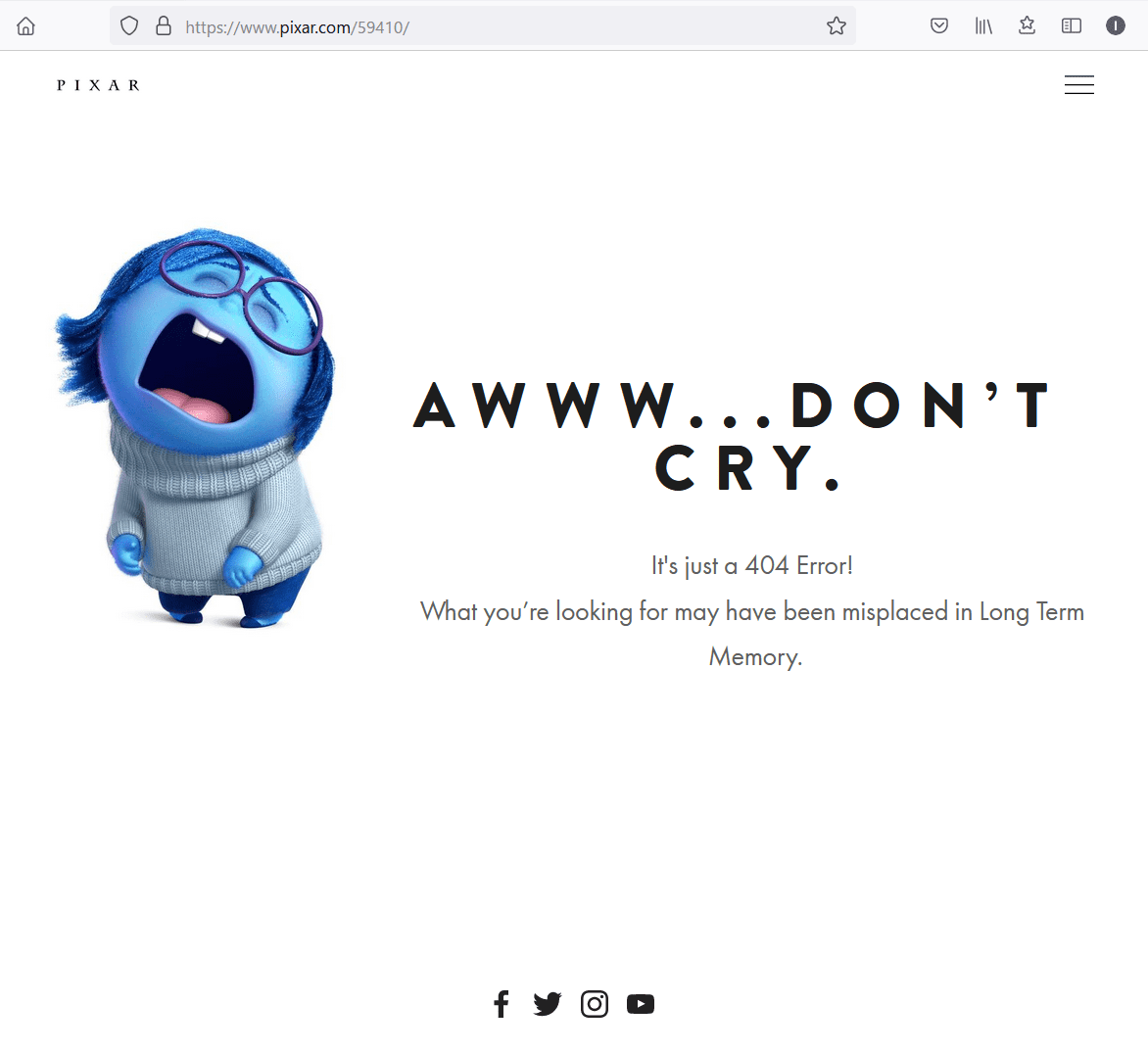 Pixar Animation Studios 404