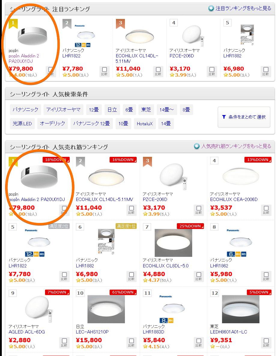 【価格.com】吸頂燈